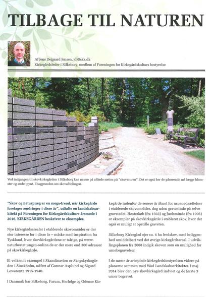 Artikel om mindemuren på Silkeborg Vestre Kirkegård: Tilbage til naturen